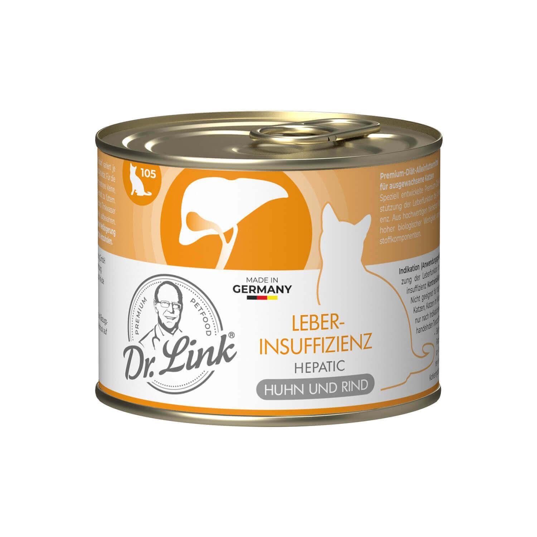 Dr. Link® SPEZIAL-DIÄT 1x200g Leberinsuffizienz | Hepatic Huhn und Rind | Probedose