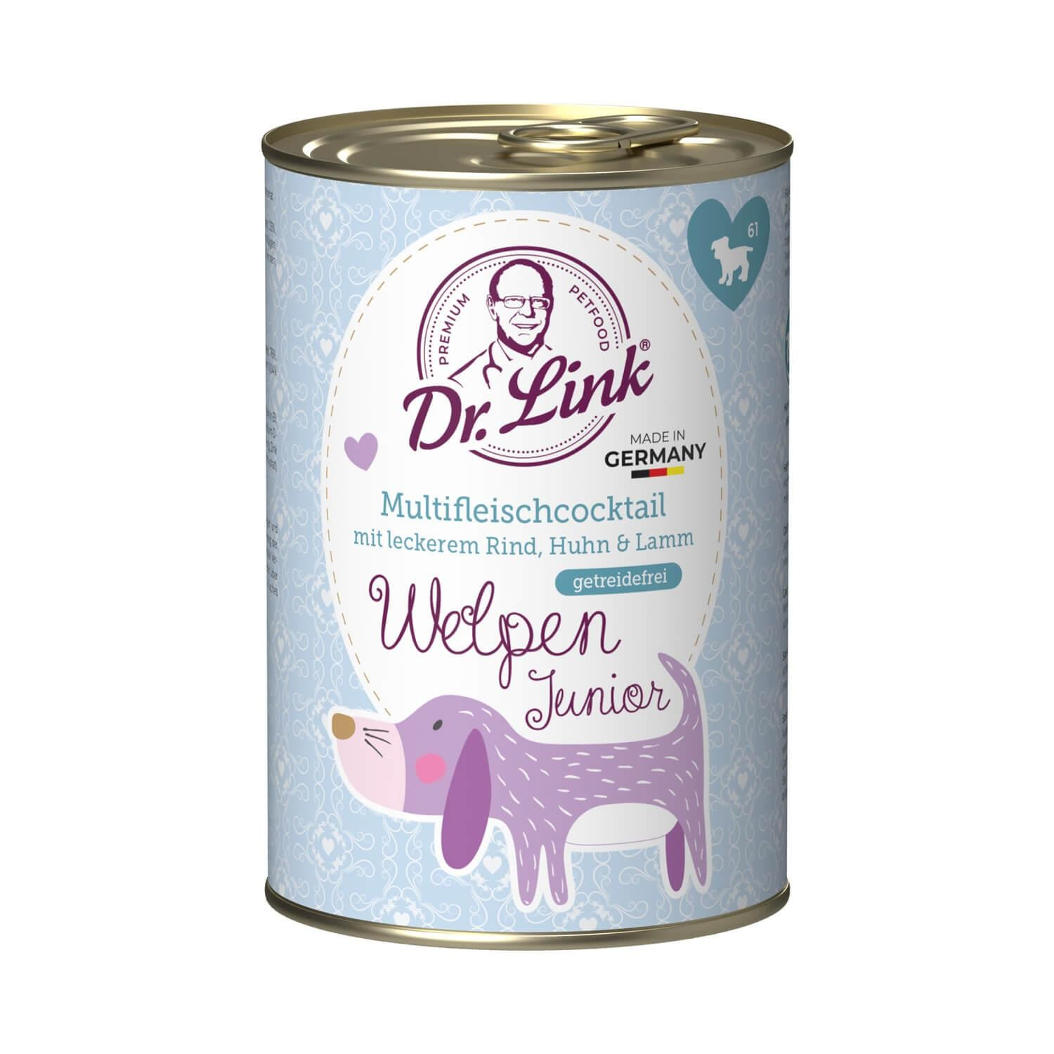 Dr. Link® WELPEN JUNIOR 1x400g Multifleischcocktail | Probedose